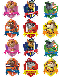 free printable halloween cupcake toppers paw patrol free birthday party printables delicate construction