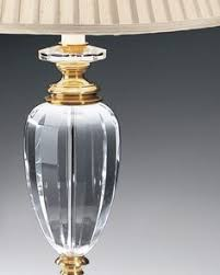 Brass And Crystal Table Lamps This Truly Elegant Faceted Urn Lamp Features A Clean Transitional