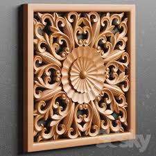 3d models decorative plaster wood carving