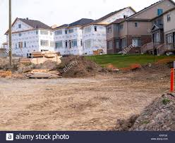 two story homes stock photos two story homes stock images alamy new homes in subdivision being build with 2 story as well as semis detach