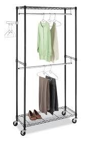 amazon com whitmor 6070 3366 bb supreme double rod garment rack