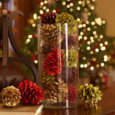 pine cones decoration ideas apartment christmas pine cones pcs