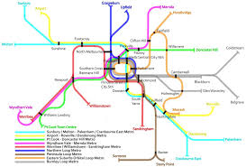 Metro Rail Houston Map by Melbourne Map Maps Melbourne Australia