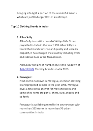 dress brands top 10 lists of clothing brands in india