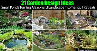 21 backyard garden design ideas using small ponds to create
