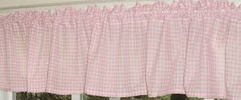 Pink Gingham Curtains Light Pink Gingham Kitchen Caf礬 Curtain Unlined Or With White Or