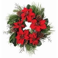 the aisle 26 velvet poinsettia wreath reviews wayfair