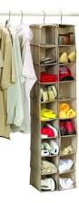 Hanging Shoe Caddy by Large Heavy Duty 18 Pocket Hanging Shoe Organiser For The Wardrobe