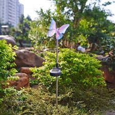 Solar Powered Landscape Lights 34 Inches High Solar Powered Outdoor Garden Stake Landscape