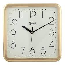 Wall Clock Ajanta Quartz Square Plastic Wall Clock 23 9 Cm X 3 2 Cm X 23 9