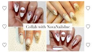 white nails collab with novanailsinc youtube