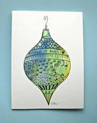 watercolor card no 215 ornament greeting card
