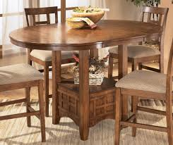 country style dining room tables cross island counter height extension table by ashley furniture