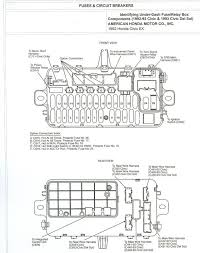 fuse box diagram for 92 honda civic automotive wiring and