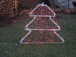 pvc christmas tree lighted yard decoration 3 steps