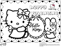 kitty valentines coloring pages getcoloringpages