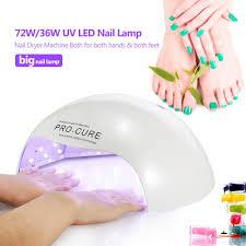 fashion 72w 36w big uv led nail lamp curing nail gel manicure