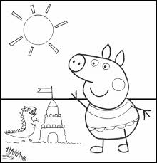 peppa pig coloring pages coloringsuite com