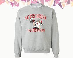 drunk at christmas etsy