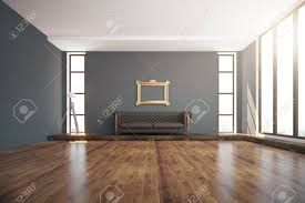 luxurious interior design with wooden floor dark grey walls