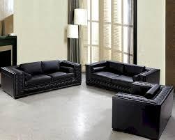 luxurious black or white leather sofa set 44l0697