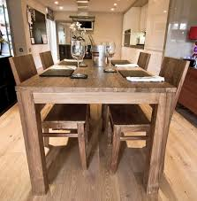 Reclaimed Dining Set With  Stunning Chairs The Nusa By Ombak - Reclaimed teak dining table and chairs