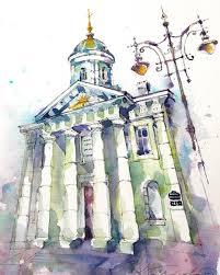 watercolor sketch гаврилова кристина xtina gavrilova art в