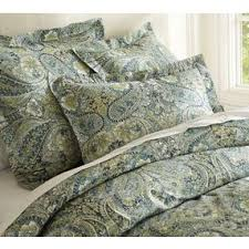 bella paisley duvet cover and sham blue pottery barn by