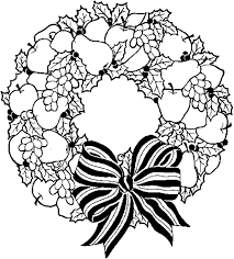 christmas printable coloring pages wreath christmas coloring