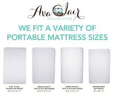 Size Of A Crib Mattress Waterproof Pack N Play Mattress Pad Fitted Baby