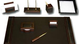 Office Desk Set Accessories Leather Desk Sets Accessories Office Uk Gifts Tandemdesigns Co