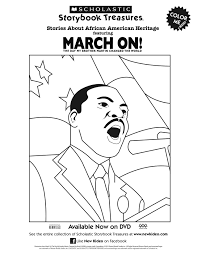 scholastic printable march on martin luther king jr coloring