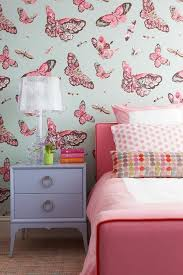 Wallpaper Borders For Girls Bedroom White And Pink Bedroom With Blue And Pink Wallpaper