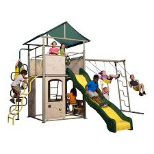 Lowes Swing Set Shop Backyard Discovery Power Tower Swing Set Residential Metal