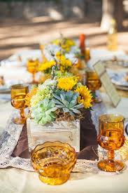 Fall Backyard Wedding by Rustic Fall Wedding Centerpiece Ideas Backyards Flower And