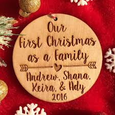 personalized christmas ornaments wedding wedding ideas personalized firsthristmas as family ornament