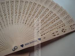 personalized wedding fans personalised sandalwood scent fan for wedding event wp007