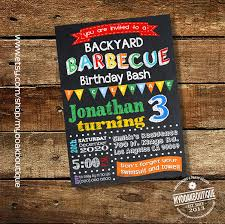 backyard barbecue birthday bash invitation backyard birthday