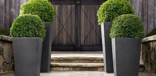 weathered cast stone planters collection weathered slate rh
