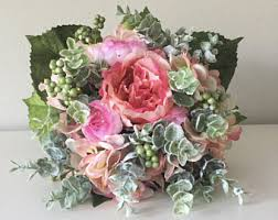 silk flower bouquets silk flower bouquet etsy