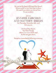 designs destination beach wedding invitation wording in