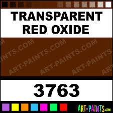 transparent red oxide artists oil paints 3763 transparent red