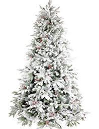amazon com on sale 7ft snowy white pine pre lit flocked christmas