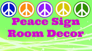 peace sign bedroom diy peace sign room decor youtube