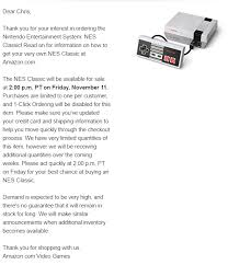 amazon black friday presales amazon will have nintendo u0027s nes classic for sale at 2 p m on