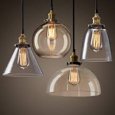 Modern Kitchen Ceiling Light by New Modern Vintage Industrial Retro Loft Glass Ceiling Lamp Shade