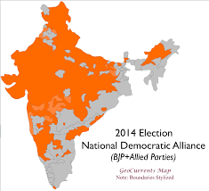1996 Presidential Election Map by Regional Patterns In India U0027s 2014 General Election Geocurrents