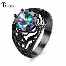 amethyst wedding rings 2018 tuker new multi color opal ring amethyst zircon
