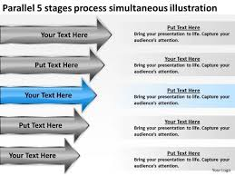 5 stages process simultaneous illustration hair salon business