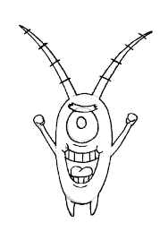 Picture Of Plankton Coloring Page Netart Coloring Page Of
